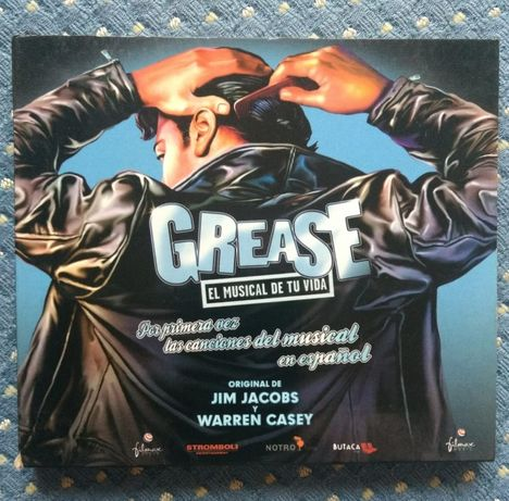 """""""Grease"""" Musical Cantado em Espanhol/Inclui letra músicas - Como NOVO"""
