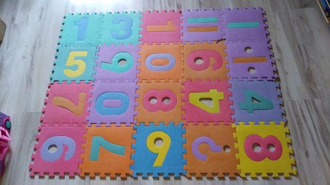Puzzle pianka 20 szt duże na podłogę