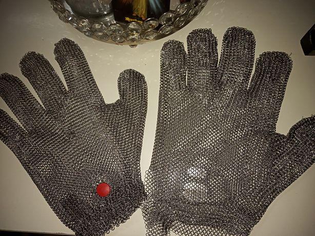 Rękawice metalowe rzeźnickie