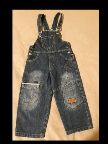 Spodnie ogrodniczki dla dziecka jeans 92 98