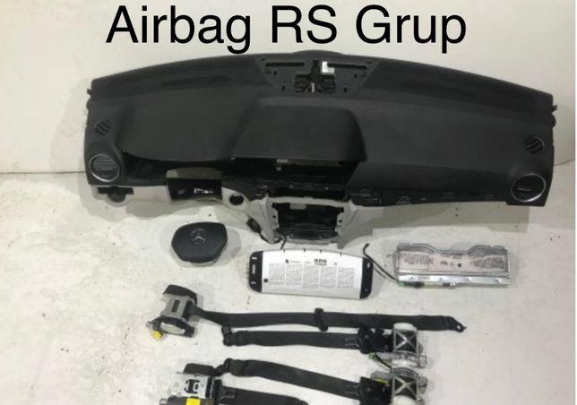 Mercedes w204 tablier airbags cintos
