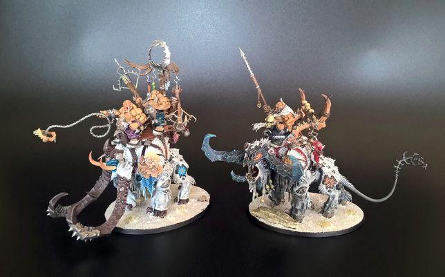 Warhammer AOS Frostlord on Stonehorn & Thundertusk Beastriders [Qb]