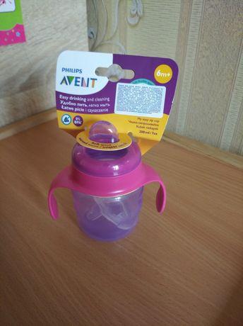 Новая чашка с мягким носиком и ручками Philips Avent 6+