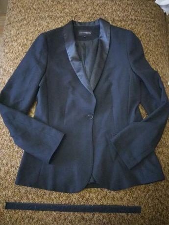 Черный деловой офисный пиджак школьная форма KappAhl