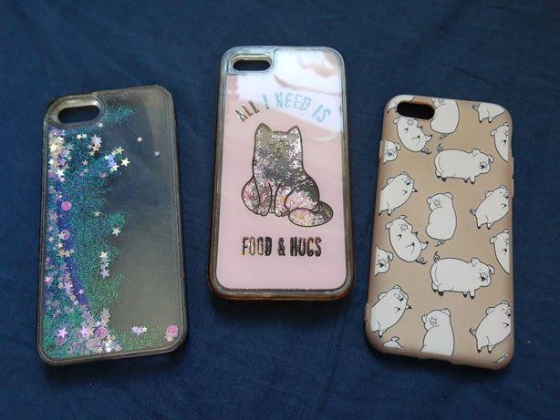 Etui, case iPhone 6/6S/7/8, płynny brokat! Komplet