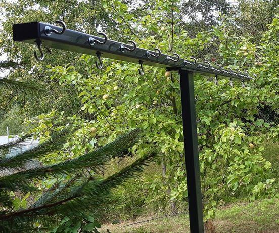 Suszarka ogrodowa 150/12 12 linek pranie bieliznę wkopania do wkopania