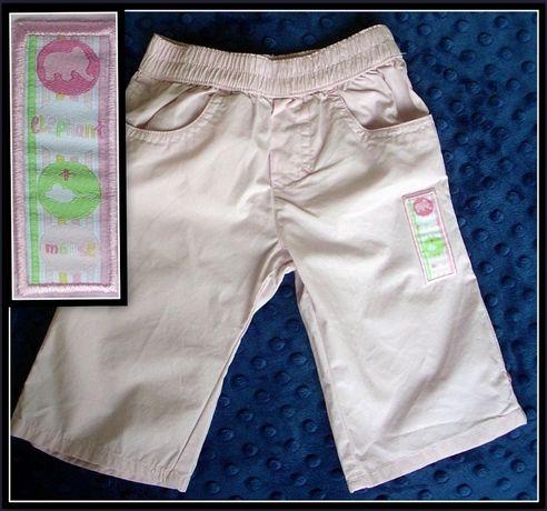 TCM Tchibo spodnie 2w1 wywijane cienkie r. 62-68