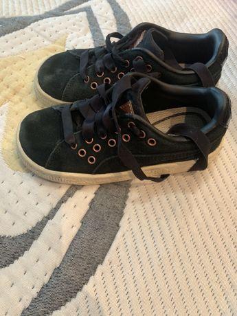 Кроссовки детские кеды на девочку кожаные puma 17.5 cm 27p
