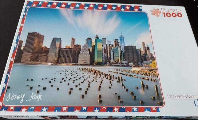 Sprzedam puzzle Trefl Szlakiem Odkrywcow USA Nowy York 1000 szt