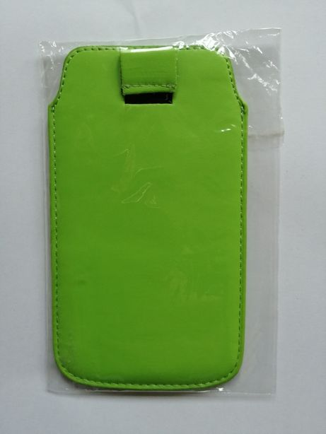 Bolsa para telemóvel em pele verde