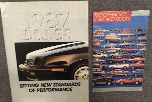 Foldery Prospekty Chevrolet - Dodge - polecam !!!