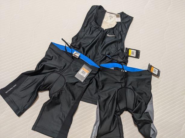 Костюм для триатлона Nike (S/M) шорты и топ, для велосипеда
