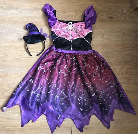 Карнавальное платье Ведьмочки на 7-8 лет