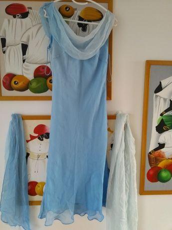 Sukienka 38 cudna błękitna ombre