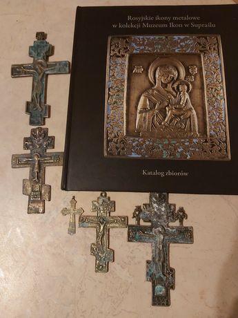 Stare krzyże Prawosławne Staroobrzędowców XXw + album o ikonach.