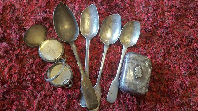 Ложки серебро 84 и 800 и серебрение