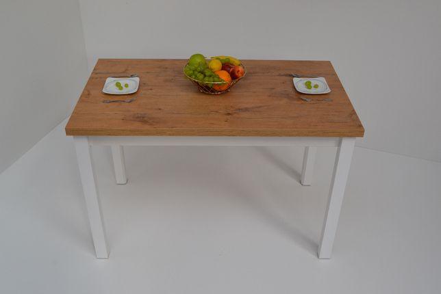 Stół kuchenny Edwin 120x68x32 Dąb Lancelot n.biała Okazja!!!