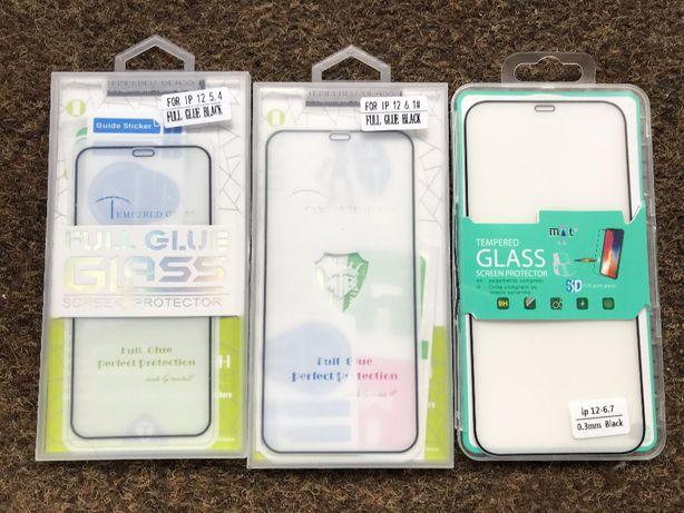 Película de vidro temperado 3D Full Glue iPhone 12/12 Pro/12 Pro Max/M