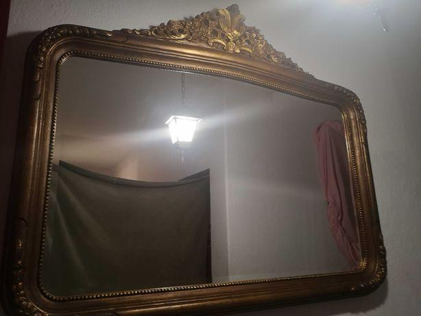 Espelho em talha dourada bisotê /biselado
