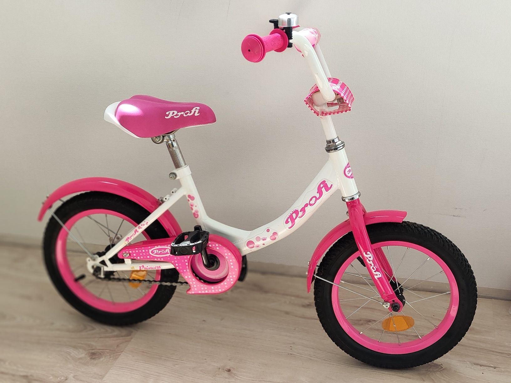 Велосипед для девочки profi, возраст 3-5 лет