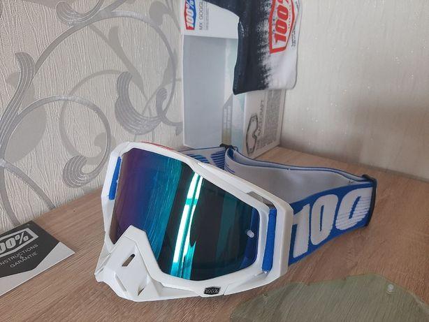 Кроссовые мото очки 100%. Эндуро MX маска для Мото/ Вело/ ATV