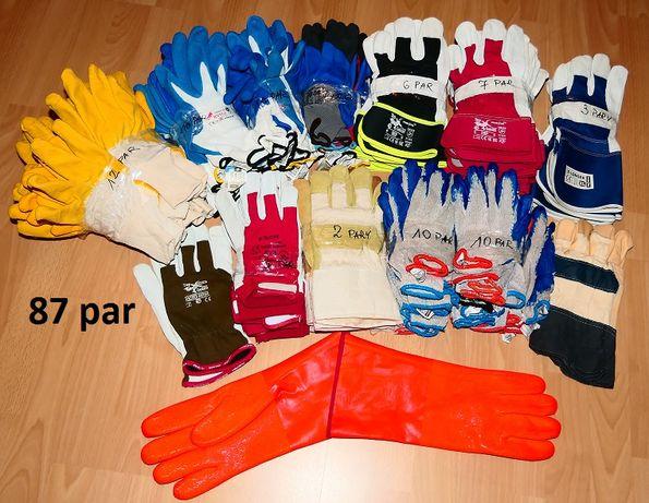 Rękawice robocze 87 par - różne rodzaje