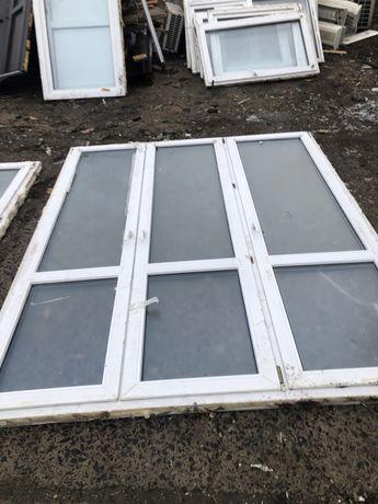Okno tarasowe trzyskrzydłowe PCV 200 szer 270 wys.