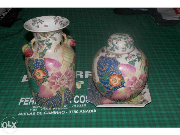 3 Peças de Porcelana Chinesa