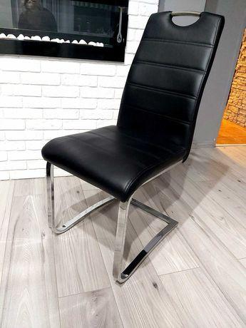 Biały stół połysk +4 krzesła w idealnym stanie