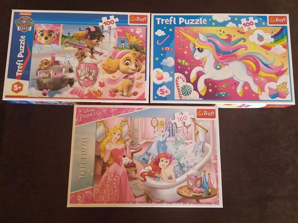 Zestaw puzzli Trefl dla dziewczynki