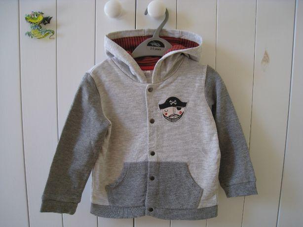 F&F bluza rozpinana z piratem, rozmiary 80, 86 cm