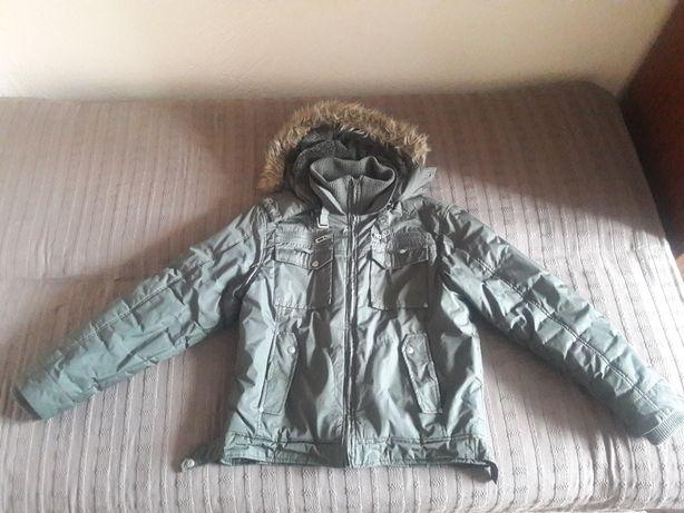 Kurtka zimowa z kapturem khaki - roz. XL jak M