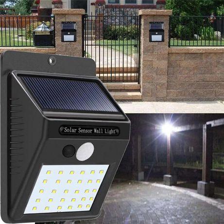 Holofote Sensor de Movimento PIR 20 LED, carrega com energia Solar