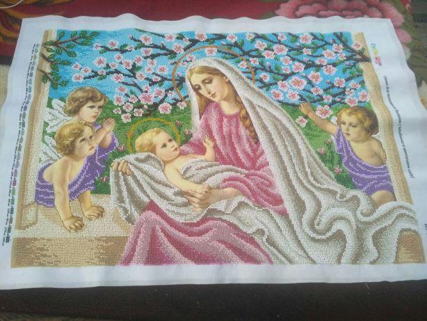 """Вишивка бісером """"Марія в цвітущому саду"""""""