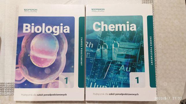 Książka, podręcznik chemia, biologia 1 kl. Operon szkoła średnia, zaw.
