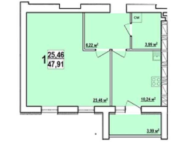 ЖК МИРА-3  48м2 Дом Сдан. В продаже 1к квартира . Метро Индустриальная