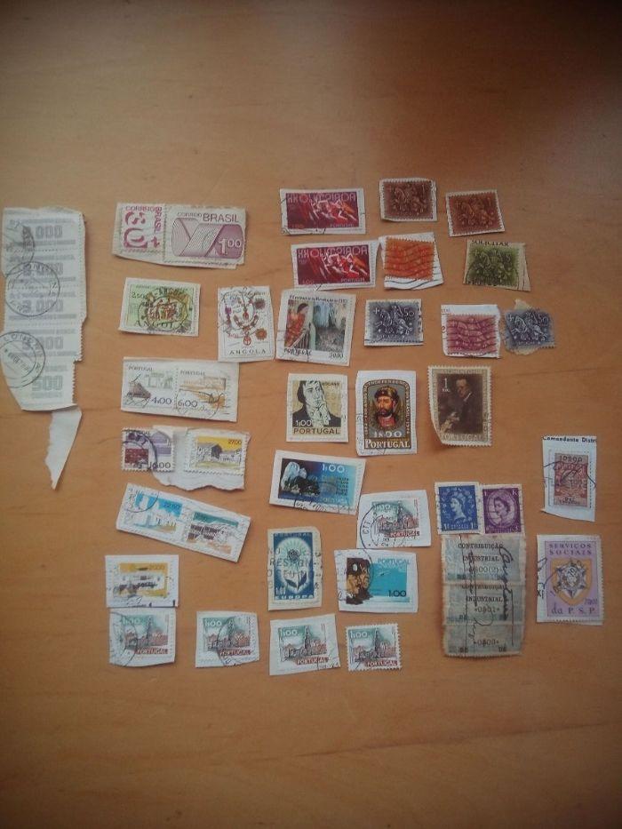 Coleção/ conjunto de selos portugueses estrangeiros antigos filadelfia Cardigos - imagem 1