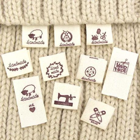 20pcs etiquetas feita a mao malha costura tecido vestuario diy
