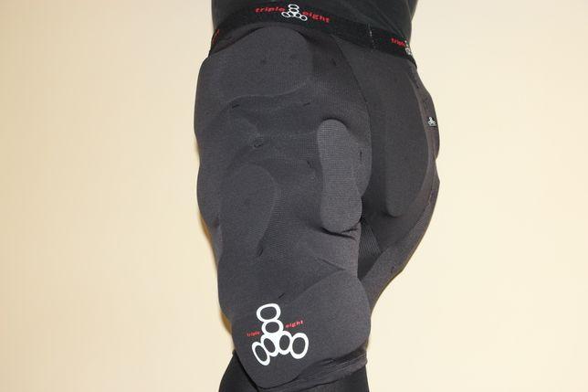 888 triple eight защитные шорты защита бёдер копчика мото вело
