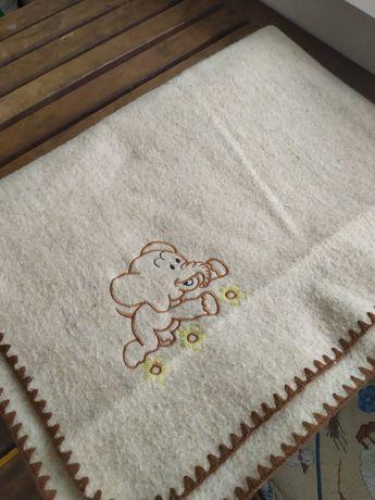 Одеяло детское шерсть+лён, не пользовались