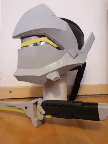 Overwatch Genji cosplay miecz + maska