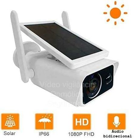 Câmera Videovigilância * WiFi * Sem Fios *SOLAR+BATERIA* FullHD