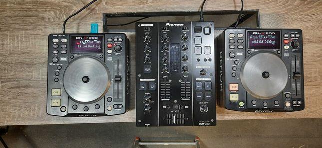 do sprzedania mikser DJM-350 plus dwa deck DENON DNS-1200 w casach UDG