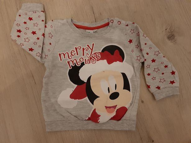 Bluza świąteczna 74 sweterek disney Mickey