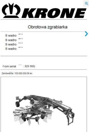 Instrukcja obsługi  zgrabiarka KRONE swadro 807, 809, 810, 907 PL