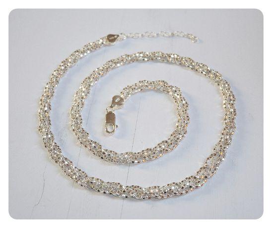 Srebrny 0,925 łańcuszek TR27 - 45 cm