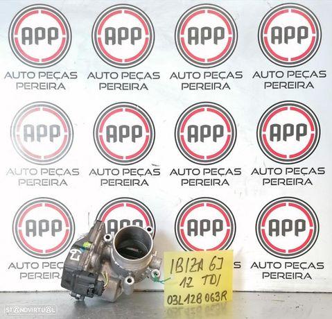 Borboleta de admissão Ibiza 6J Polo 6R 1.2 TDI referência 03L128 063R.