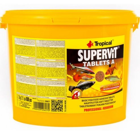Tropical supervit TABLETS A 20 sztuk - pokarm dla ryb akwariowych
