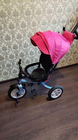 Детский велосипед-коляска с родительской ручкой