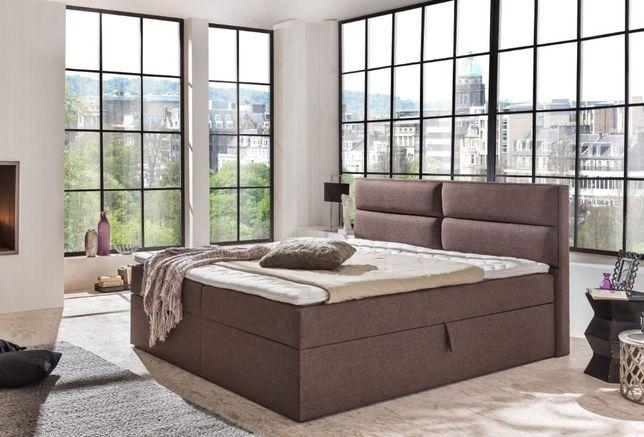 ARIZONA łóżko kontynentalne z pojemnikami, materac kieszeniowy STYLUX